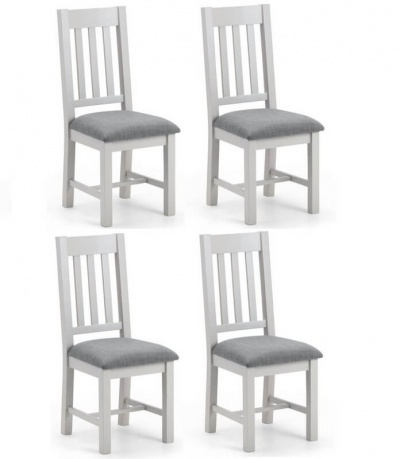 Richmond Soft Grey Dining Chairs - Set of 4